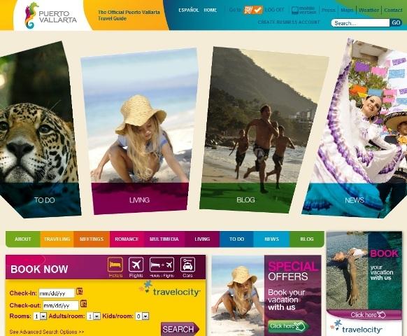 Redesigning the Official Puerto Vallarta Website by Mijo! Brands